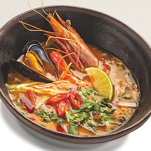 Тайский суп «Tum – Yum» с тигровыми креветками