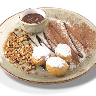 Жареные моти с шоколадом