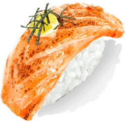 Нигири с лососем опаленным