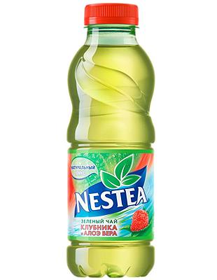 Нести зеленый чай со вкусом клубники 0,5